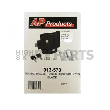 AP Products Entry Door Latch - Global Travel Trailer Lock - Black - 013-570-1