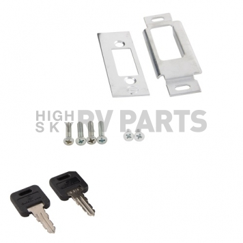 AP Products Entry Door Latch - Global Travel Trailer Lock - Chrome - 013-572-3