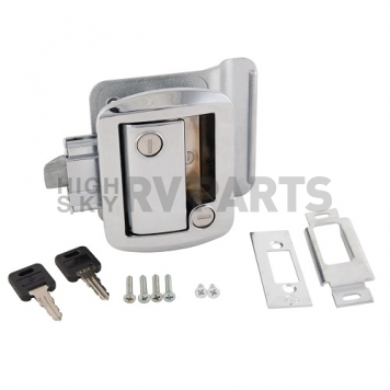 AP Products Entry Door Latch - Global Travel Trailer Lock - Chrome - 013-572-2