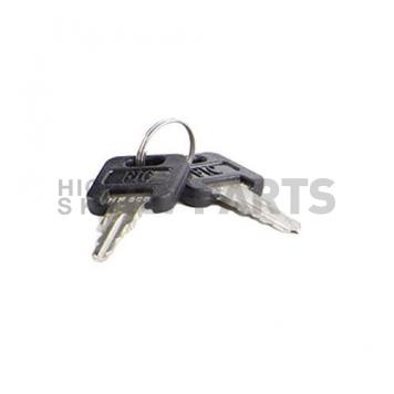 Wesco Fastec Entry Door Lock Dead Bolt Latch - Black - 43610-06-SP-3