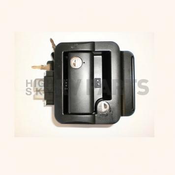 Wesco Fastec Entry Door Lock Dead Bolt Latch - Black - 43610-06-SP-6