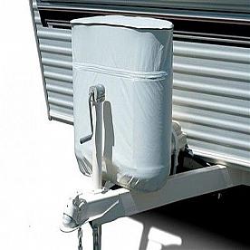 ADCO RV Propane Tank Cover, For Dual 20 Pound - 5 Gallon Tank, Polar White Vinyl