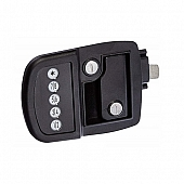 AP Products Power Lock Kit Paddle Type Left Hand Hinges - Black - 013-530