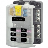 Blue Sea ST Blade Fuse Block - 6 Circuits with Negative Bus and Cover