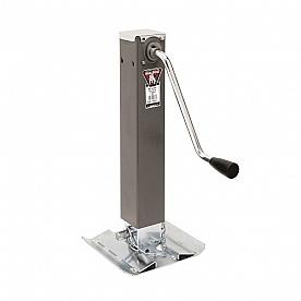 Bulldog Trailer Square Sidewind Tongue Jack - Gray 7.2K - 10K Lift 180405