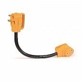 """Camco 30 Amp Power Grip 18"""" Dogbone - 90M / 90F 125V / 3750W Bilingual - 55205"""