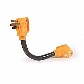 "Camco 50 Amp Power Grip 18"" Dogbone - 90M / 90F, 125-250V / 12500W - 55215"