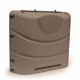 Camco Heavy-Duty 20lb or 30lb Dual Propane Tank Cover (Bronze)
