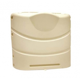 Camco Heavy Duty Dual Propane Tank Cover - Colonial White, 20 or 30 Pound Tanks