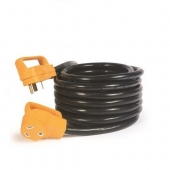 Camco Power Grip RV Extension Cord, STW - TT30P/ TT-30R, 30 Amp, 25'