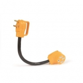 "Camco RV 18"" PowerGrip Dogbone Electrical Adapter, 30AM / 50AF - 55185"