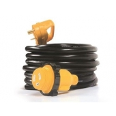 Camco RV 25' Power Cord Adapter 30M-30F
