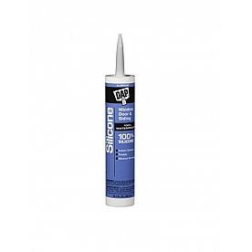 DAP Caulk Silicone Sealant 10.1 oz. Aluminum for Windows/ Doors