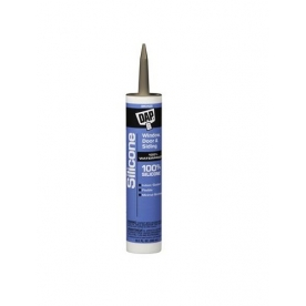 Dap Caulk Silicone Sealant  10.1 oz. Bronze for Windows/ Doors