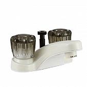 Dura Faucet 2 Handle Bisque Parchment Plastic for Lavatory DF-PL720S-BQ