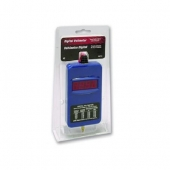 """East Penn Voltmeter Tool, 12 To 24 Volts, Digital Display, With 6"""" Test Leads"""