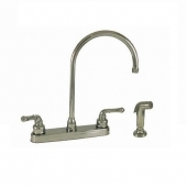 Empire Brass 8'' RV Kitchen Faucet, Gooseneck Spout, Chrome