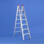 Double Sided Folding Ladder 7' Height 6 Steps 225 LB
