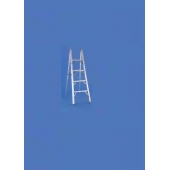 Folding Step Style Ladder 5' Height 4 Steps 225 LB