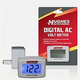 Hughes Auto Digital A/C Volt meter 90 /132 Volt AC