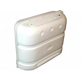 Icon - RV Propane Dual Tank Cover - 20/30 Pound Tanks Polar White, Polyethylene