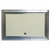 """RV Compartment Door Aluminum - White - 18"""" X 11"""" with Lock"""
