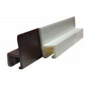 """JR Products Type C Wall Mounted Curtain Slide Track - 48"""" Brown Plastic"""