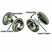 Twist Fastener for Adding A Snap Attachment to Awning Material/ Curtains (Set Of 6)