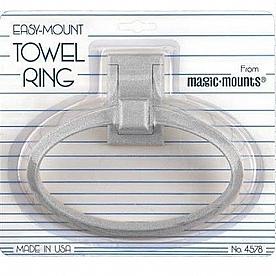 Towel Ring Magic Mounts (R) White