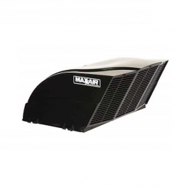 MaxxAir Roof Vent Cover Fan/ Mate Vented On One Side - Black