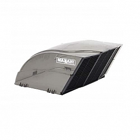 MaxxAir Roof Vent Cover Fan/ Mate Vented On One Side - Smoke  00-955003