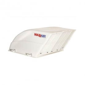 MaxxAir Roof Vent Cover Fan/ Mate Vented On One Side - White 00-955001