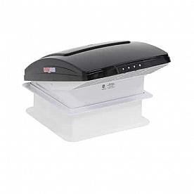 MaxxFan Deluxe Roof Vent Manual Opening 4 Speed Fan - Smoke  00-06401K