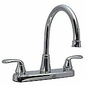 Phoenix Products Faucet 2 Lever Handle Chrome Plastic for Kitchen PF231302