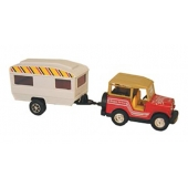 Model Vehicle SUV And Trailer Toy