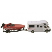 Prime Products RV Model Vehicle - Die Cast Metal And Plastic Class C Motor Home And Boat Action Toy