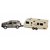Prime Products RV Model Vehicle - Die Cast Metal And Plastic SUV And Trailer Action Toy