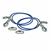 Roadmaster Trailer Safety Cable 64'' 6000Lb With Double Snap Hook - Set Of 2