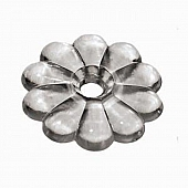 Screw Rosettes Clear With #6 Screws Set Of 14