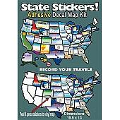 Travel Map Sticker
