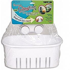 Toiletries Holder Staytion (TM) White Plastic