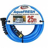 Valterra AquaFRESH Drinking Water Hose, 25', Blue