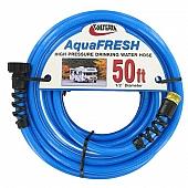 Valterra AquaFRESH Drinking Water Hose, 50', Blue
