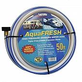 Valterra AquaFRESH RV Fresh Water Hose, 1/2″ X 50′, White - W01-5600