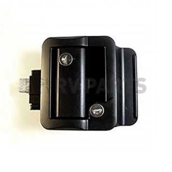 Wesco Fastec Entry Door Lock Dead Bolt Latch - Black - 43610-06-SP