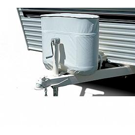 ADCO RV Propane Tank Cover, For Dual 30 Lb - 7.5 Gallon Tank, Polar White Vinyl