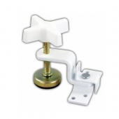 JR Products Fold-Out Bunk Clamp White