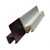 """JR Products Window Curtain Track Type C 96"""" - White Plastic"""