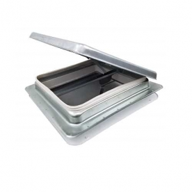 Heng's Industries RV Roof Vent Manual Opening Without Fan Metal Base/ Aluminum Lid 75111-C1G1