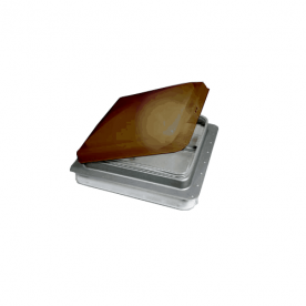 Heng's Industries  RV Roof Vent Manual Opening Without Fan - Metal Base/ Amber Lid  73111-C1G1